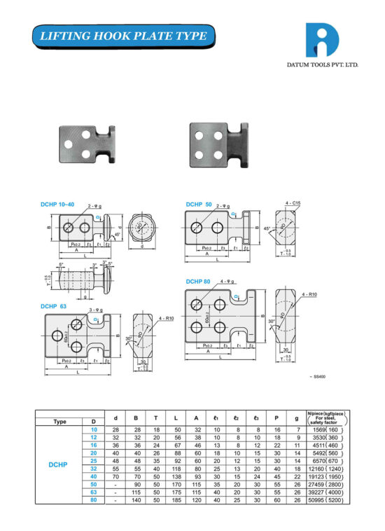 Lifting Hook Plate Type